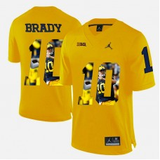 Michigan Wolverines #10 Tom Brady Yellow College Football Jersey