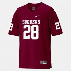 Oklahoma Sooners #28 Adrian Peterson Red College Football Jersey