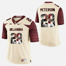 Oklahoma Sooners #28 Adrian Peterson White College Football Jersey