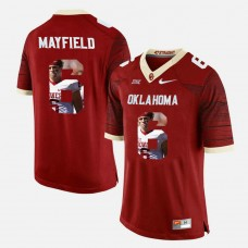 Oklahoma Sooners #6 Baker Mayfield Crimson College Football Jersey