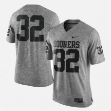 Oklahoma Sooners #32 Gray College Football LIMITED Jersey