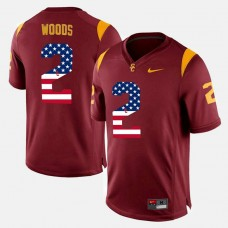 USC Trojans #2 Robert Woods Maroon College Football Jersey