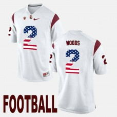 USC Trojans #2 Robert Woods White College Football Jersey