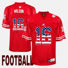 Wisconsin Badgers #16 Russell Wilson Red College Football Jersey
