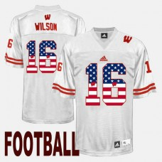 Wisconsin Badgers #16 Russell Wilson White College Football Jersey