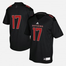 Rutgers Scarlet Knights #17 Black College Football Jersey