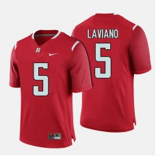 Rutgers Scarlet Knights #5 Chris Laviano Red College Football Jersey