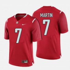 Rutgers Scarlet Knights #7 Robert Martin Red College Football Jersey
