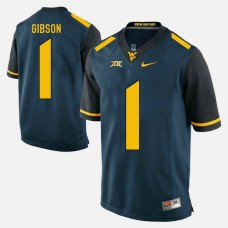 West Virginia Mountaineers #1 Shelton Gibson Blue College Football GAME Jersey