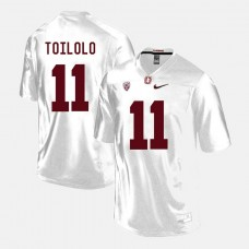 Stanford Cardinal #11 Levine Toilolo White College Football Jersey