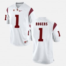 USC Trojans #1 Darreus Rogers White College Football GAME Jersey