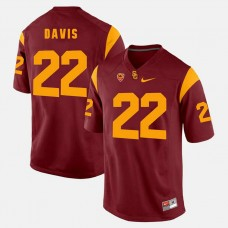 USC Trojans #22 Justin Davis Red College Football GAME Jersey