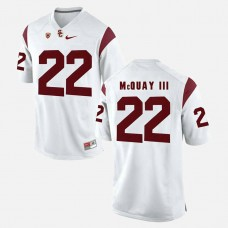 USC Trojans #22 Leon McQuay III White College Football GAME Jersey