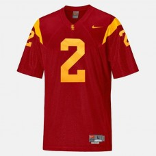 USC Trojans #2 Robert Woods Red College Football Jersey