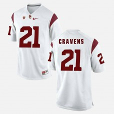 USC Trojans #21 Su'a Cravens White College Football GAME Jersey