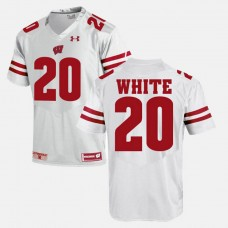 Wisconsin Badgers #20 James White White College Football GAME Jersey