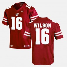 Wisconsin Badgers #16 Russell Wilson Red College Football GAME Jersey