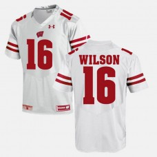 Wisconsin Badgers #16 Russell Wilson White College Football GAME Jersey
